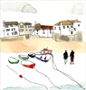 Grey Sky Over St. Ives Harbour, Cornish Study I