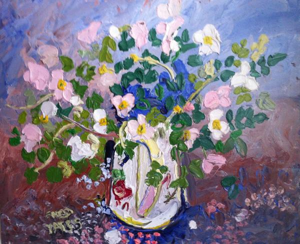 Garden Flowers in a Vase