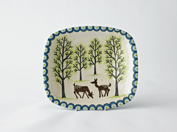 Grazing Deer Rectangle