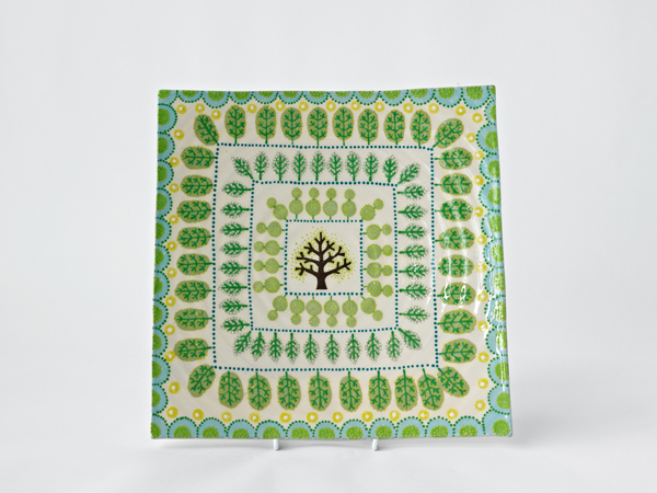 Topiary Square Platter
