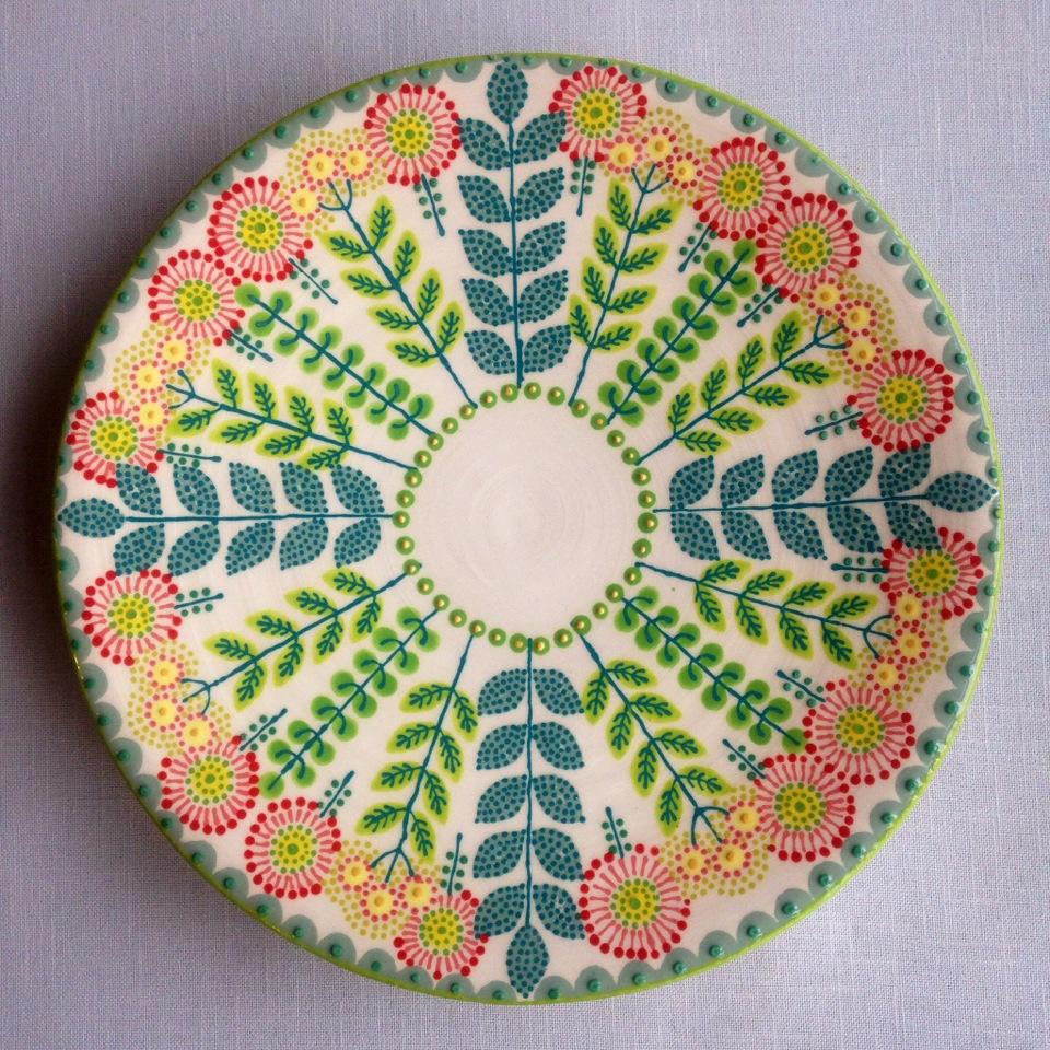 Large Daisy Platter