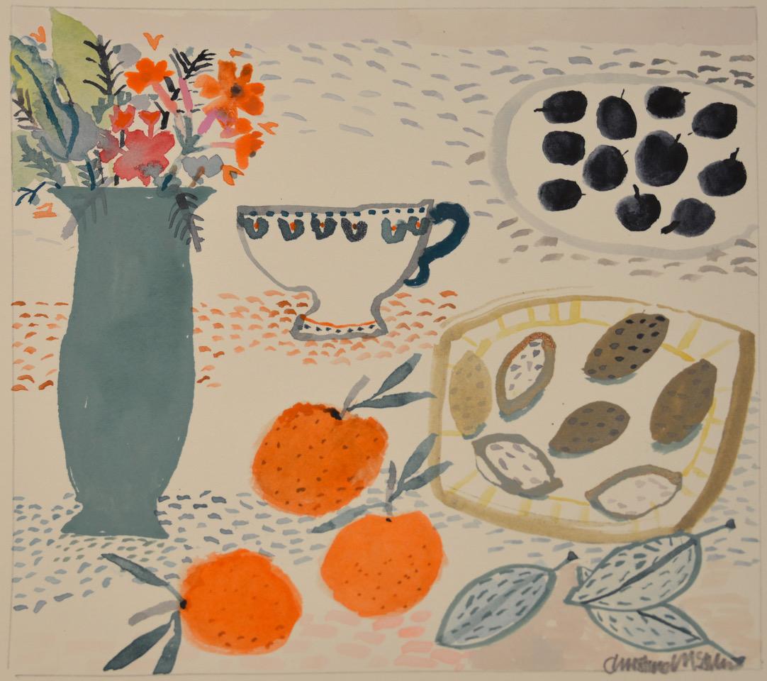 Almonds Mints Kate's Cup watercolour